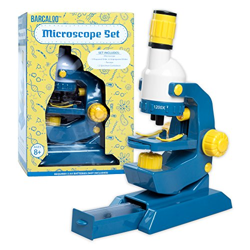 Kids Microscope Kit with Slides - Childrens Play Microscope for Girls and Boys