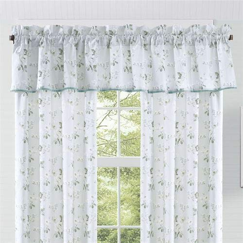 Five Queens Court Evelina Window Straight Valance, Spa, 88x18.25