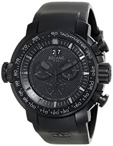 """Zodiac ZMX Men's ZO8562 """"Special Ops"""" Stainless Steel Watch with Black Rubber Band"""