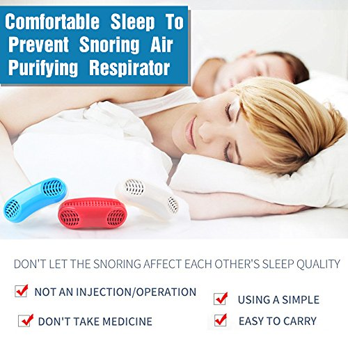 Upgraded Advanced 2 In 1 Anti Snoring And Air Purifier Sleeping Breath Aid Nose Clip Snore