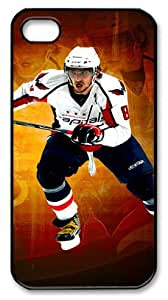 LZHCASE Personalized Protective Case for iPhone 4/4S - NHL Washington Capitals #8 Alex Ovechkin