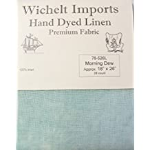 """Wichelt Hand Dyed 100% Linen Morning Dew 28 Ct 18"""" x 26"""" Cross Stitch Fabric"""