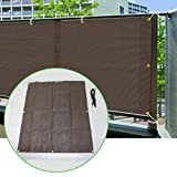 Comolife 86% UV Protection Breathable Shade Cloth for Patio/ Window/ Balcony with 4 Installation ropes , Shade for Plants / Room , Color : Brown , Size: 70.2 x 105.3 Inch