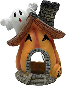 Goldeal Resin Handicraft for Small and Medium Size Aquarium Decoration,Halloween Pumpkin House Fish Tank Decoration