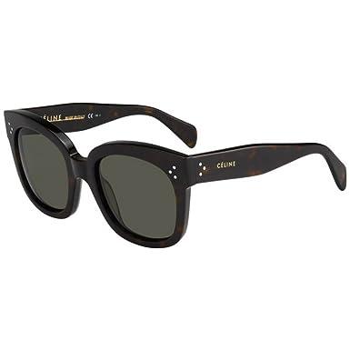 3c80b4d6b08 Céline New Audrey Sunglasses CL 41805 S Dark Havana  Amazon.com.au ...