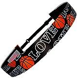 Non Slip Adjustable Headband 'Basketball' Girls Basketball Headband (Color Options) by RazzyRoo Headbands (Love)
