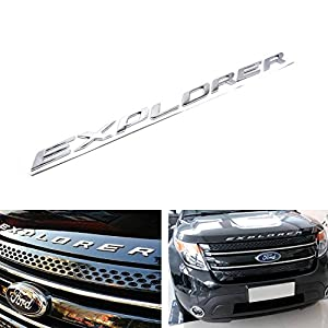 8 letterset silver chrome finish front hood 3d letters stickers fit for 2011