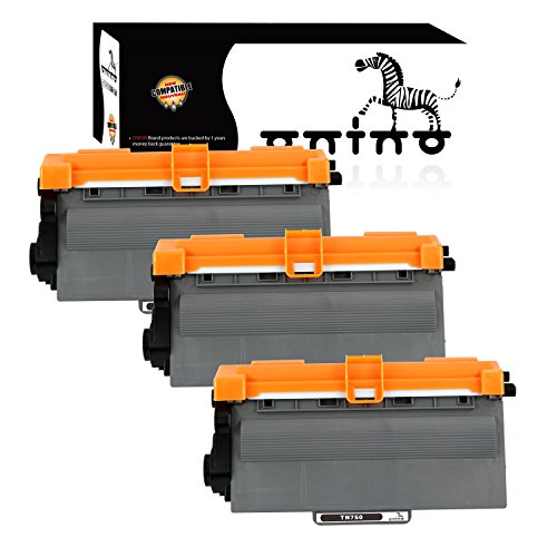 onino Compatible Toner Cartridges Replacement for Brother TN750 HL-5450DN HL-5470DW HL-6180DW MFC-8710DW MFC-8910DW MFC-8950DW DCP-8110DN Black 3-Pack
