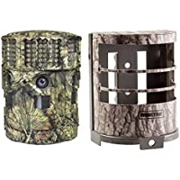 Moultrie No Glow 14MP Panoramic 180i Game Trail Hunting Camera + Security Box