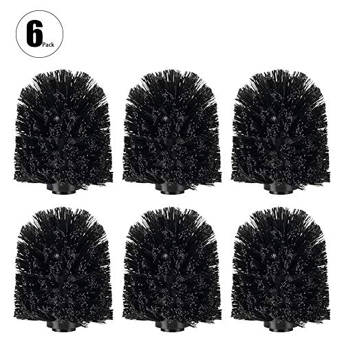 - Fullyy Toilet Bowl Brush Head,Replacement Toilet Bowl Cleaner Brush Spiral Replacement Brush Head Toilet Sturdy Stiff Brush Deep Cleaning for Bathroom(Black)