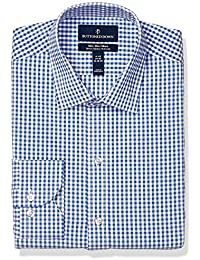 Amazon Brand - BUTTONED DOWN Men's Slim Fit Performance Tech Stretch Dress Shirt, Supima Cotton Easy Care