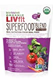 #1: LIVfit Superfood Organic Greens Powder Blend, 720 Gram