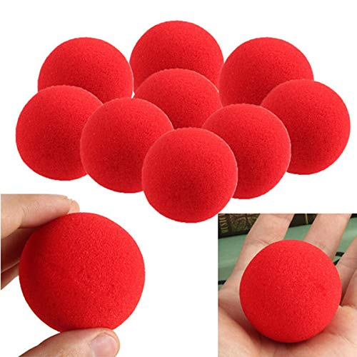 30PCS Magic Street Trick Soft Sponge Props Clown Nose - Gadget Toys Magic & Trick Props - 30 x Assorted Glitter Shapes Foam Stickers (Clown Shape)
