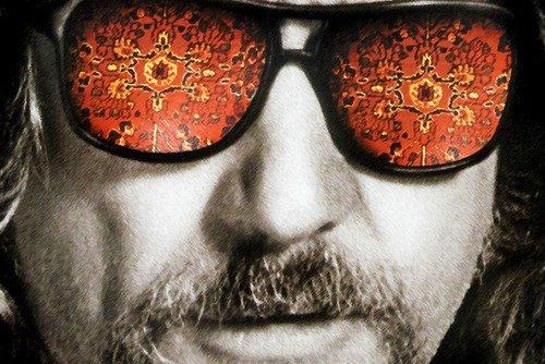 Jeff Glass - The Big Lebowski Psychadelic Sunglasses Jeff Bridges 24X36 Poster