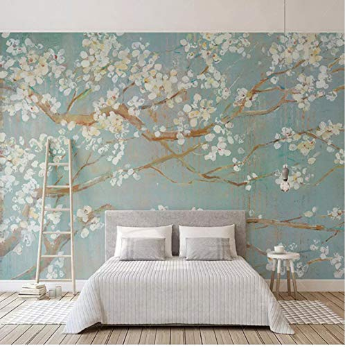 3D Stickers Murals Decorations Wall Wallpaper Cherry Flowers Flowers of The Room of House Room Decoration Art Kids Kitchen (W)200X(H)140Cm