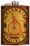 Columbia Cycling Penny-Farthing Vintage Classic Flask - 8oz Stainless Steel Flask - comes in a GIFT BOX - by Trixie & Milo