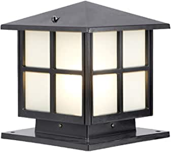ACHNC Lámpara de Exterior Retro,IP65 Impermeable Lámpara de Jardín Antiguo E27 Farola de Jardín Aluminio Oro Marrón Farola de Exterior Patio Terraza Paisaje Caminos Iluminación Exterior,Negro: Amazon.es: Hogar
