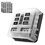 blade block - MICTUNING 6-Circuit Blade Fuse Block,6-Way Fuse Box Block Holder with LED Indicator Waterproof Durable Protection Cover Sticker Lable For Automotive Car Boat Marine SUV BUS Subway