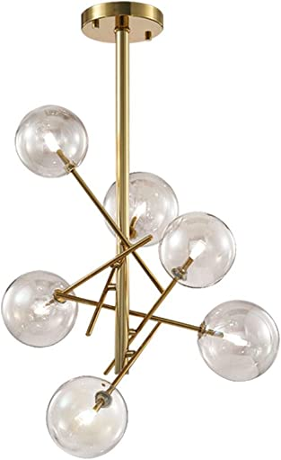 Modo Lighting Sputnik Chandelier 6-Light Modern Magic Bean Pendant Hanging Lights Metal Ceiling Pendant Light Fixture