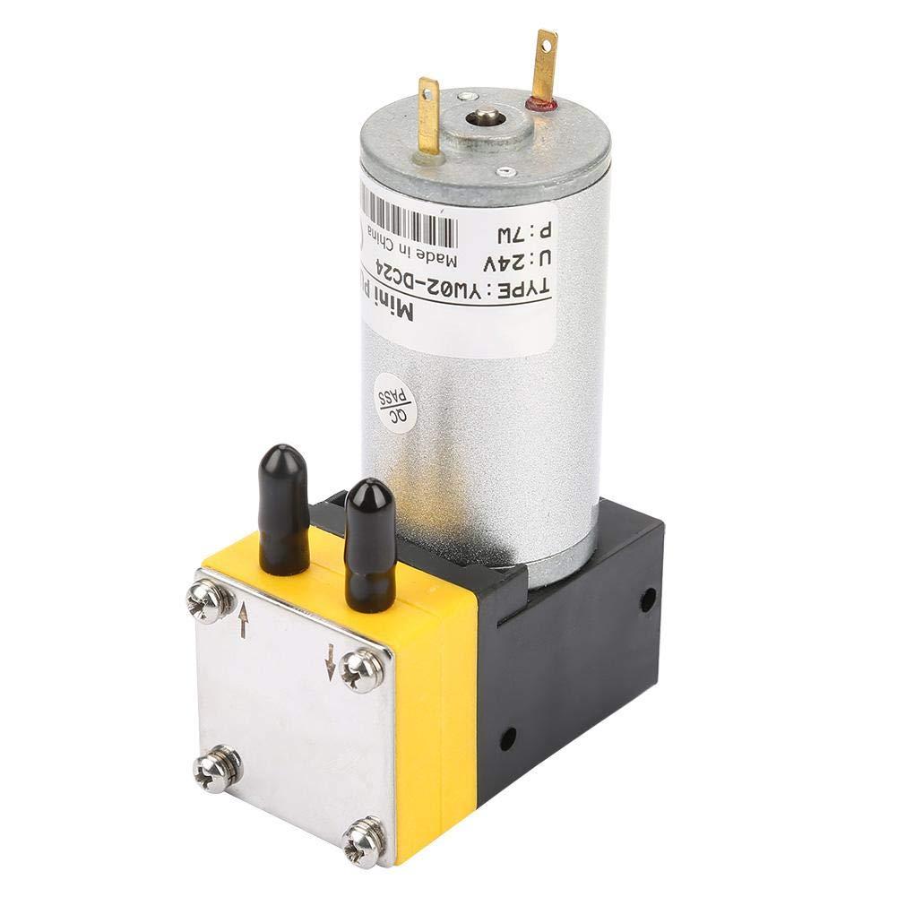 Diaphragm Pump, 24V 0.4-1L/min Miniature Diaphragm Pump Vacuum Pump for Air/Liquid
