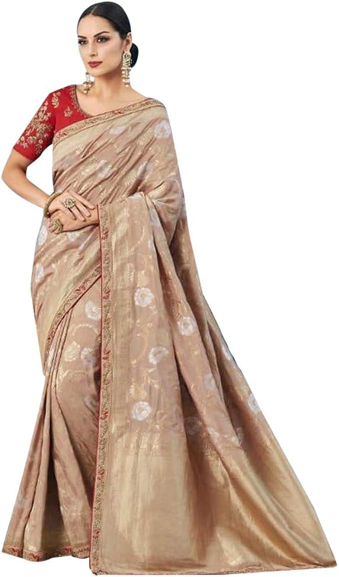 Designer indian floral saree indian saree with beautiful blouse peice