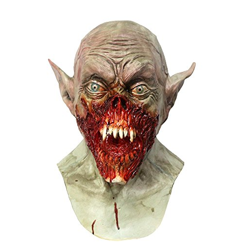 Halloween Vampire Mask Sourcingbay Scary Horror Zombie Night Demon Creature Monster Novelty Bat Ears Latex Perfect for Halloween Costume Party Rave Festival Cosplay Acting Props Gift Fit Adults