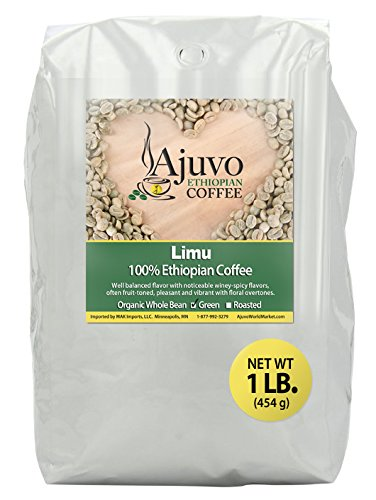 Ethiopian Limu Coffee - Green, Unroasted, Whole Bean (1 lb.)
