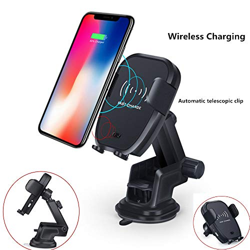 ANKIA Wireless Charger Car Phone Mount,One-Touch Design Qi Fast Charging Car Mount with Air Vent Phone Holder for Qi Enabled Devices,Samsung Galaxy S8 S7 S7 Edge,Note 8 5,iPhone 8 8plus X XR XS XS Max
