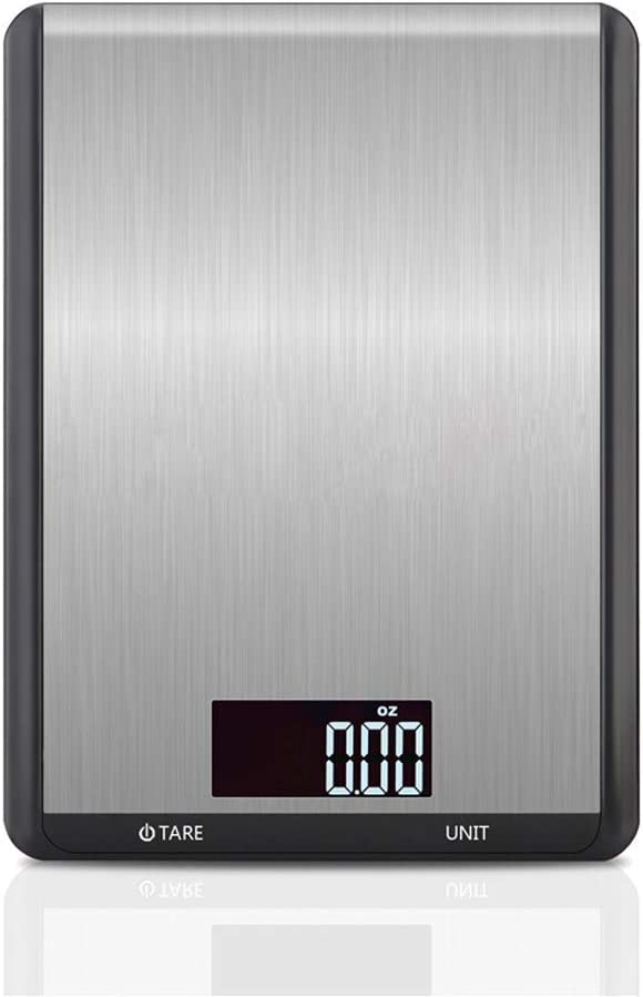 Food Scale Digital Kitchen Scale Ounces 22lbs/10kg Capacity Large LCD Display Tare Function Ultra Slim Multifunction Electronic Scale for Fruits,Milk,Cooking,Baking