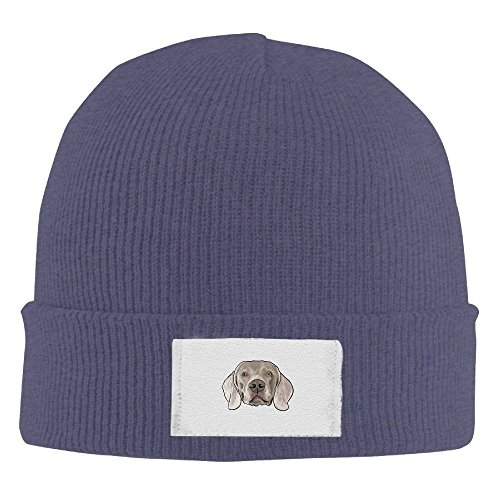 (Men Women Pug Warm Stretchy Knit Wool Beanie Hat Solid Daily Skull Cap Outdoor Winter)