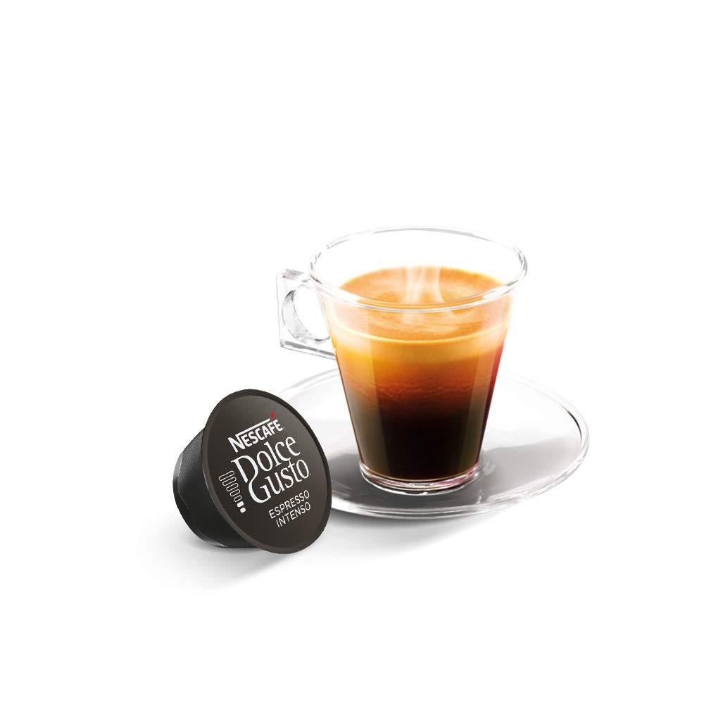 Exclusivo NESCAFÉ Dolce Gusto Café Espresso Intenso, Pack de 3 x 16 Cápsulas - Total: 48 Cápsulas de Café