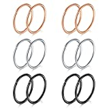 Best Hoop Nose Rings - Nose Rings Hoop, 20G 10mm 316L Stainless Steel Review