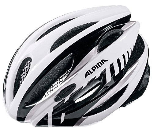 ALPINA Radhelm Cybric, White-Black, 53-57, A9664.1.16