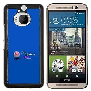 EJOOY---Cubierta de la caja de protección para la piel dura ** HTC One M9Plus M9+ M9 Plus ** --Rosa polluelos divertidos