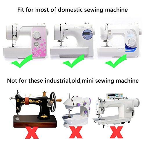 Juego de pies prensatelas de 42 piezas para máquina de coser; compatible con Janome, Brother, Babylock, New Home, Elna, Singer, Kenmore simplicity, ...