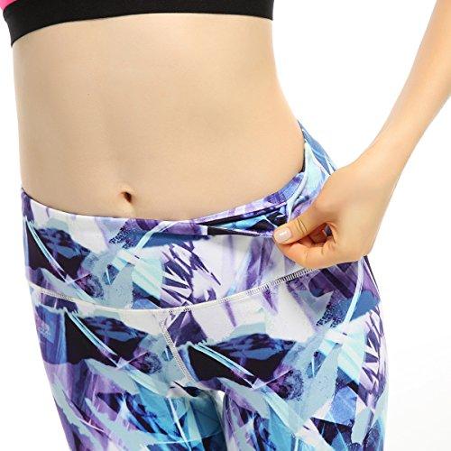 X-Fit Sports Yoga Fitness Leggings Spandex Running Gym Women's Capri Yoga Pants Nylon Hidden Pocket