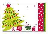 Pack Of 50, Jolly Christmas Tree Enclosure Cards 3-1/2'' x 2-1/4'' Made In USA