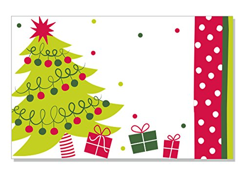Pack Of 50, Jolly Christmas Tree Enclosure Cards 3-1/2'' x 2-1/4'' Made In USA by Generic