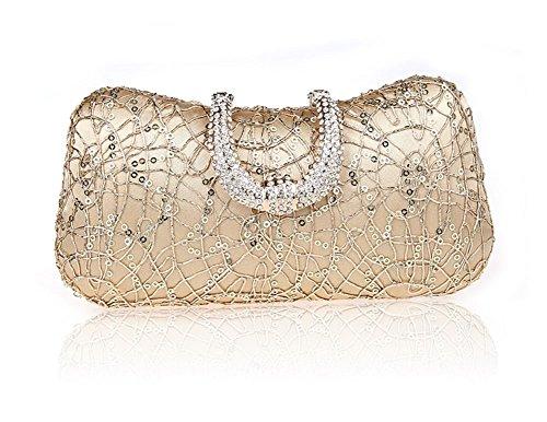 Rhinestone de la hebilla del bolso/bolso de noche de la moda/banquete de alto grado/La novia del embrague/de vestir paquete Sra.-B B