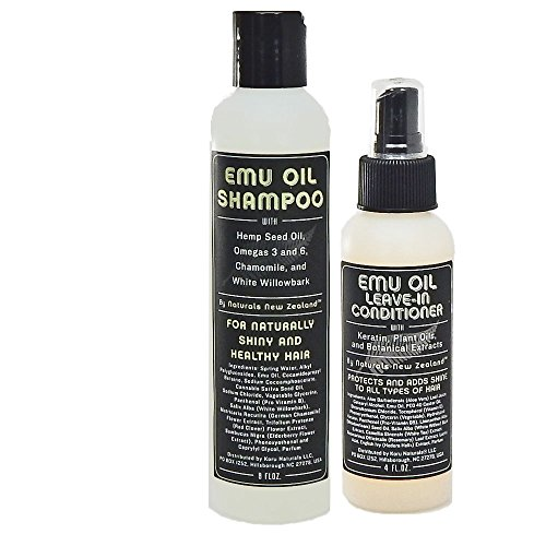 Emu Oil Shampoo and Leave-in Conditioner Set Sulfate Free with Special (Emu Oil Shampoo)