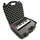 STUDIOCASE Recording Equipment Travel Hard Case w/ Customizable Foam fits Alesis SR18 and SR16 Drum Machines ,25 Key Mini Akai Professional MPK Midi Controller and Accessories