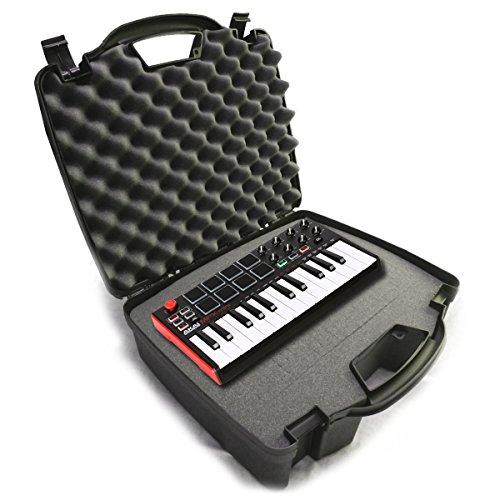 STUDIOCASE Recording Equipment Travel Hard Case w/ Customizable Foam fits Alesis SR18 and SR16 Drum Machines ,25 Key Mini Akai Professional MPK Midi Controller and Accessories ()