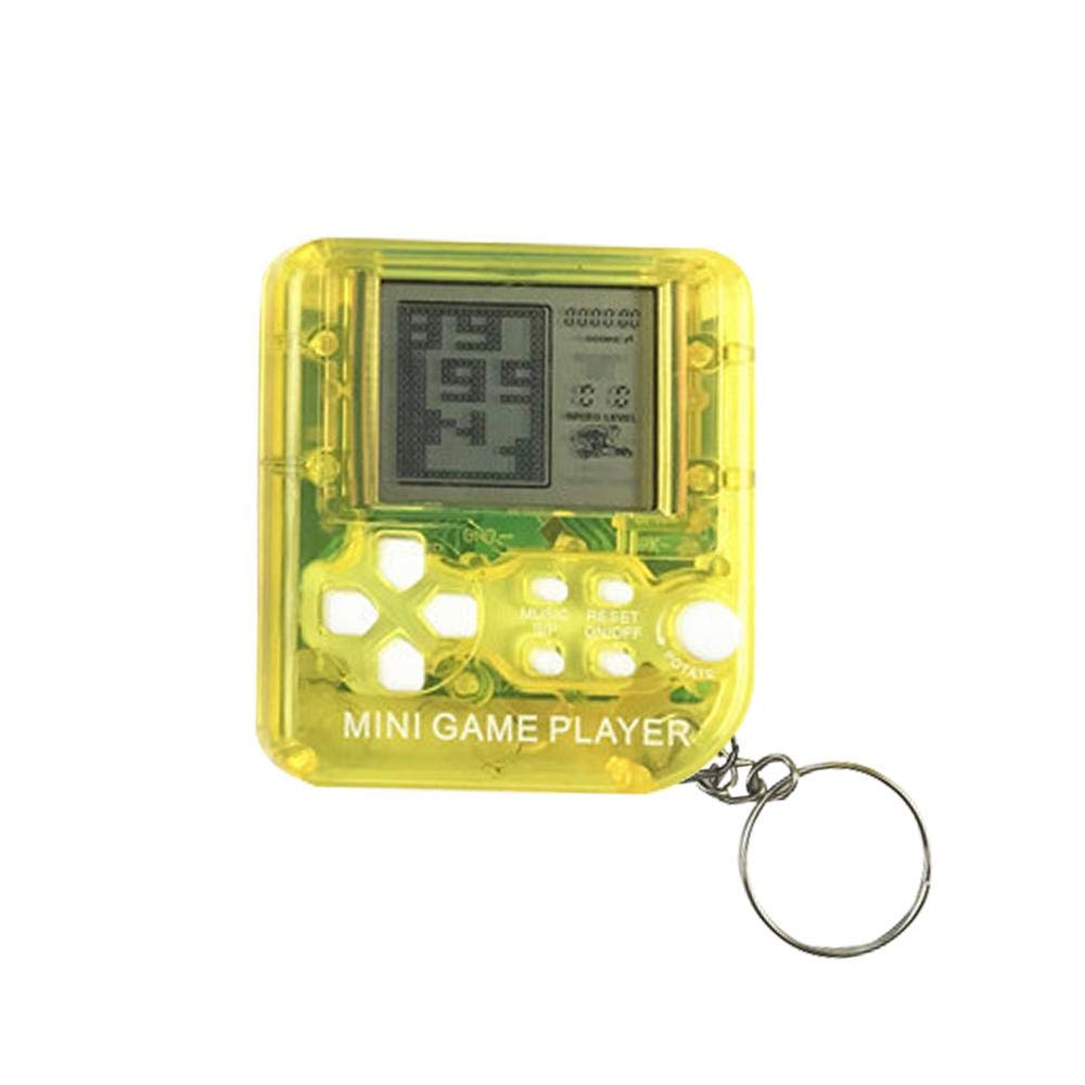 Aolvo Mini Tetris Handheld Game Machine With Keychain Retro Tetris Game Console Portable Handheld Toys For Children Kids Built In 26 Games Amazon In Home Kitchen