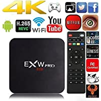 Amlogic EXW 905X PRO Quad Core TV Box With Pre-installed Android 6.0 Lollipop OS TV Box Quad Core 1G/8G 4K Google Players With WiFi HDMI DLNA (S905X)