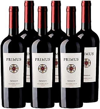 Carmenere Primus - Vino tinto de 75 cl - D.O. Valle de Colchagua - Bodegas Gonzalez Byass (Pack de 6 botellas): Amazon.es: Alimentación y bebidas