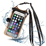 DiCAPac Universal Waterproof Case IPX8 Certified, Floating Phone Dry Pouch, Fingerprints Touch ID for iPhone 8 8Plus 7 7Plus Galaxy and Other Smartphones up to 6.3 x 3.3 Inches with Clip (Black)