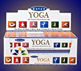 Satya Premium Yoga Incense Sticks/Agarbatti 180 Grams Box | 12 Packs of 15 Grams Each In A Box | Premium Quality