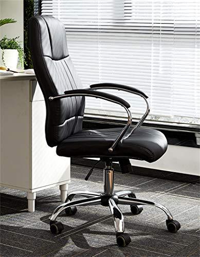 LYJBD Swivel kontorsstol ergonomisk kontorsstol tjock sittdyna sitsdjup Adj justerbar svängbar rullning för studierum