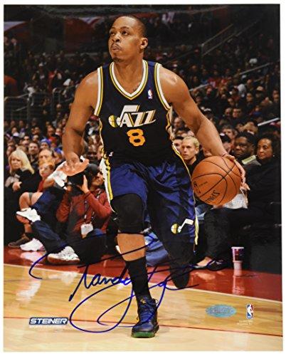 NBA Utah Jazz Randy Foye Drives up Court Signed Photograph, 16x20-Inch