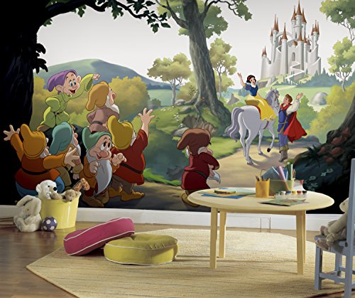 - RoomMates Disney Princess Snow White 'Happily Ever After'  Removable Wall Mural - 10.5 feet X 6 feet